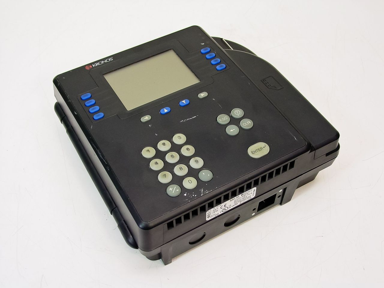 Kronos 480f Time Clock For Sale: Kronos 8602000-001 System 4500 Time Clock With Ethernet