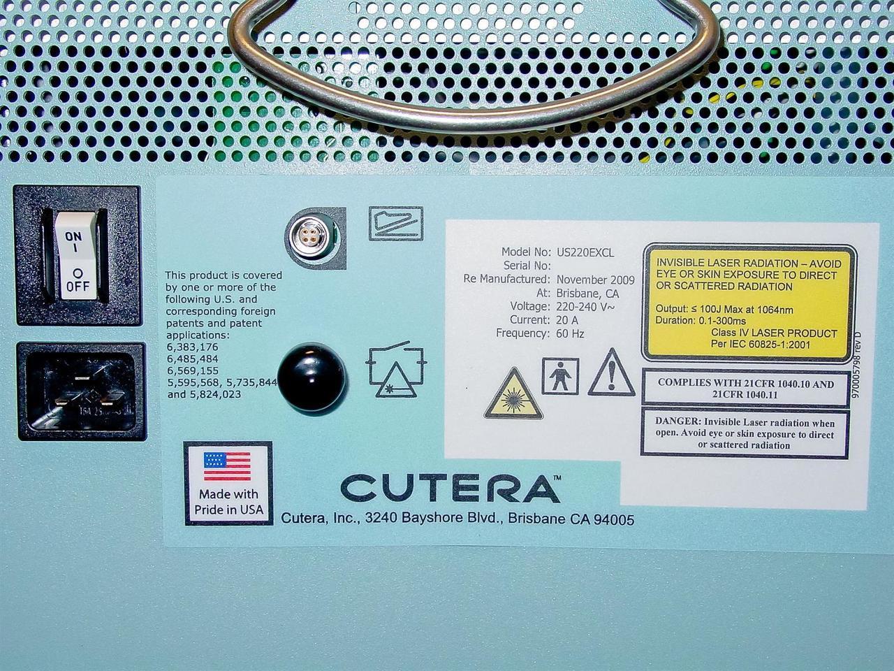 Cutera Us220excl Altus Coolglide Excel Xeo Laser
