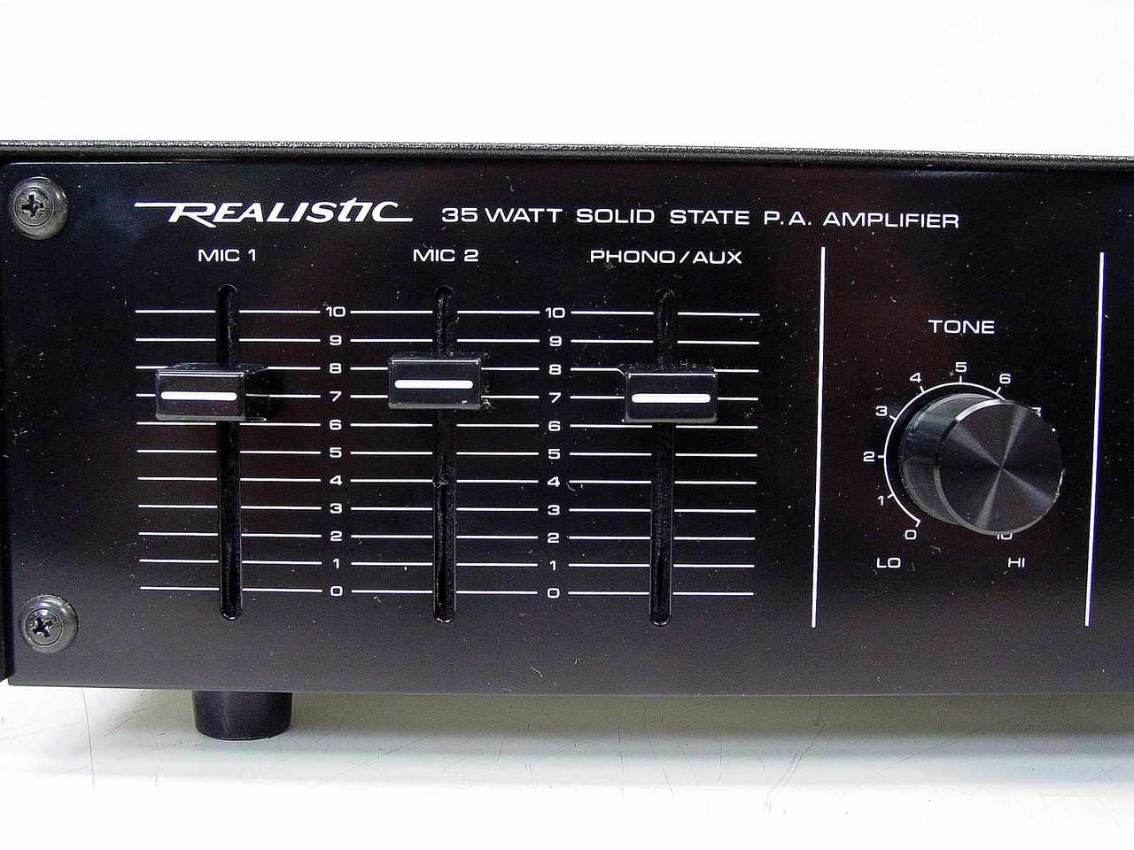 Realistic 32 2027 Mpa 35a 35 Watt Solid State Pa Amplifier