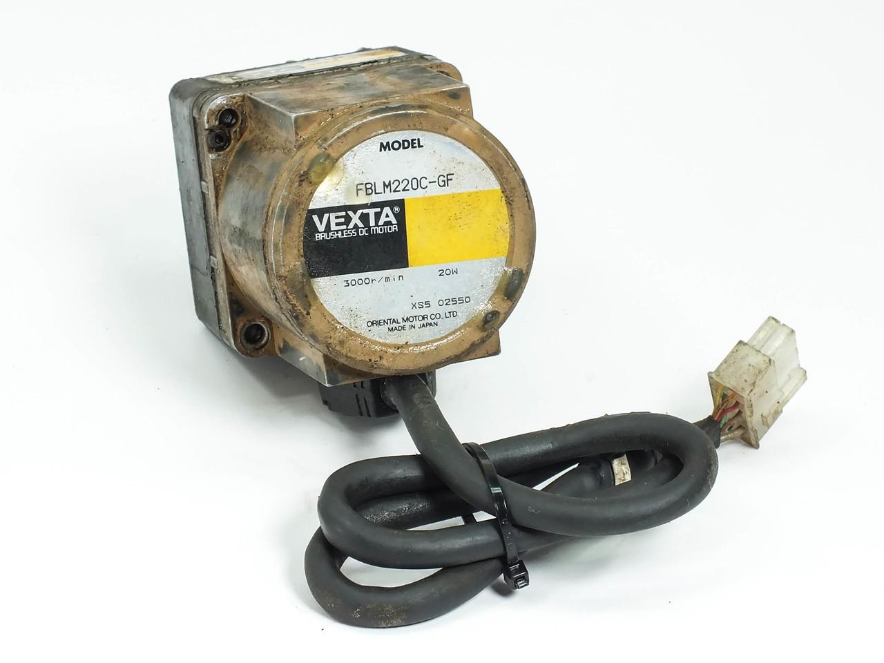 Oriental Motor Fblm220c Gf Vexta 20w Dc Brushless W Gf2g10 20 Wiring Diagram 201 Gear Head