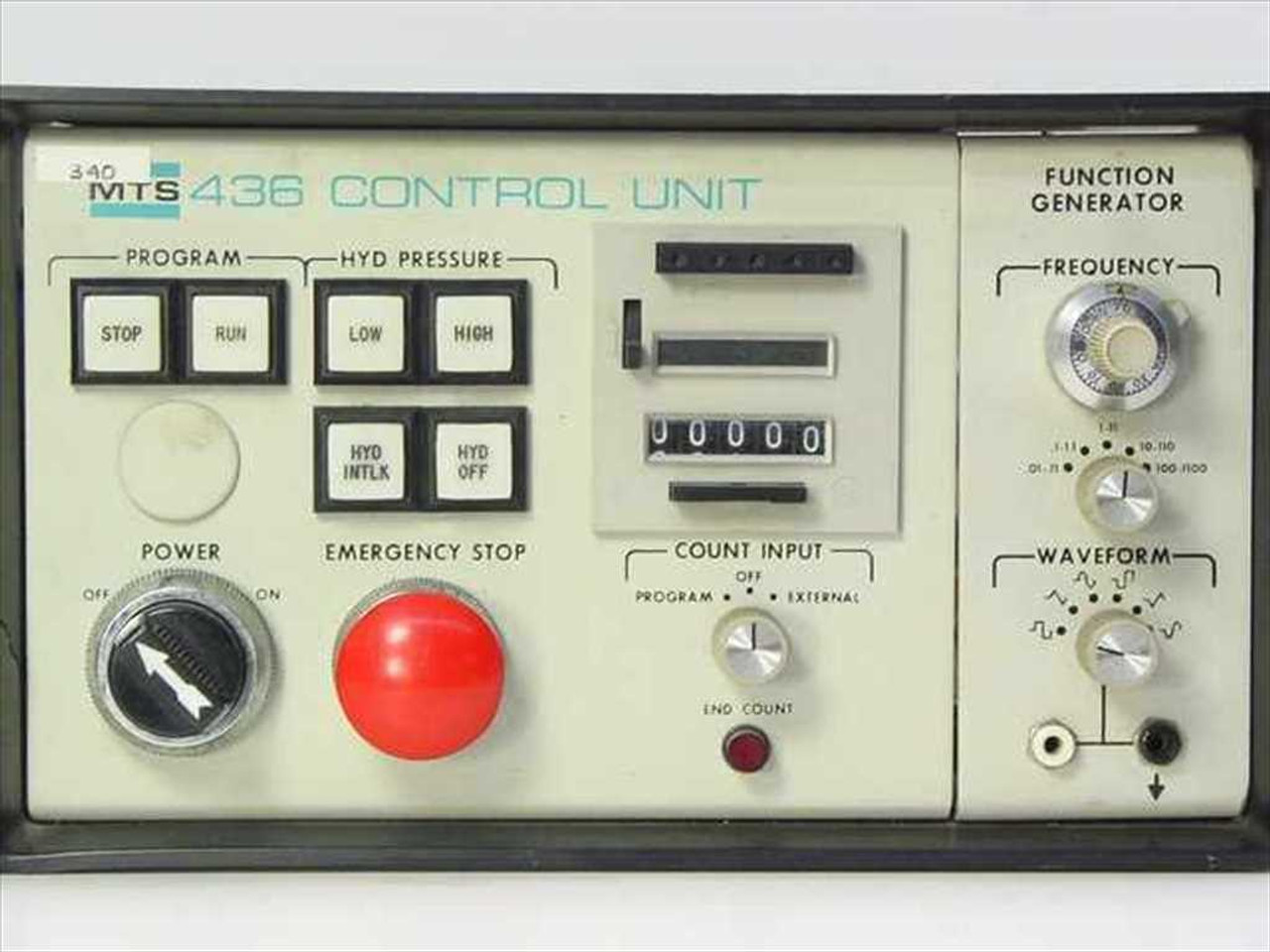 Mts 43611 Analog Control Unit Function Generator Pressure