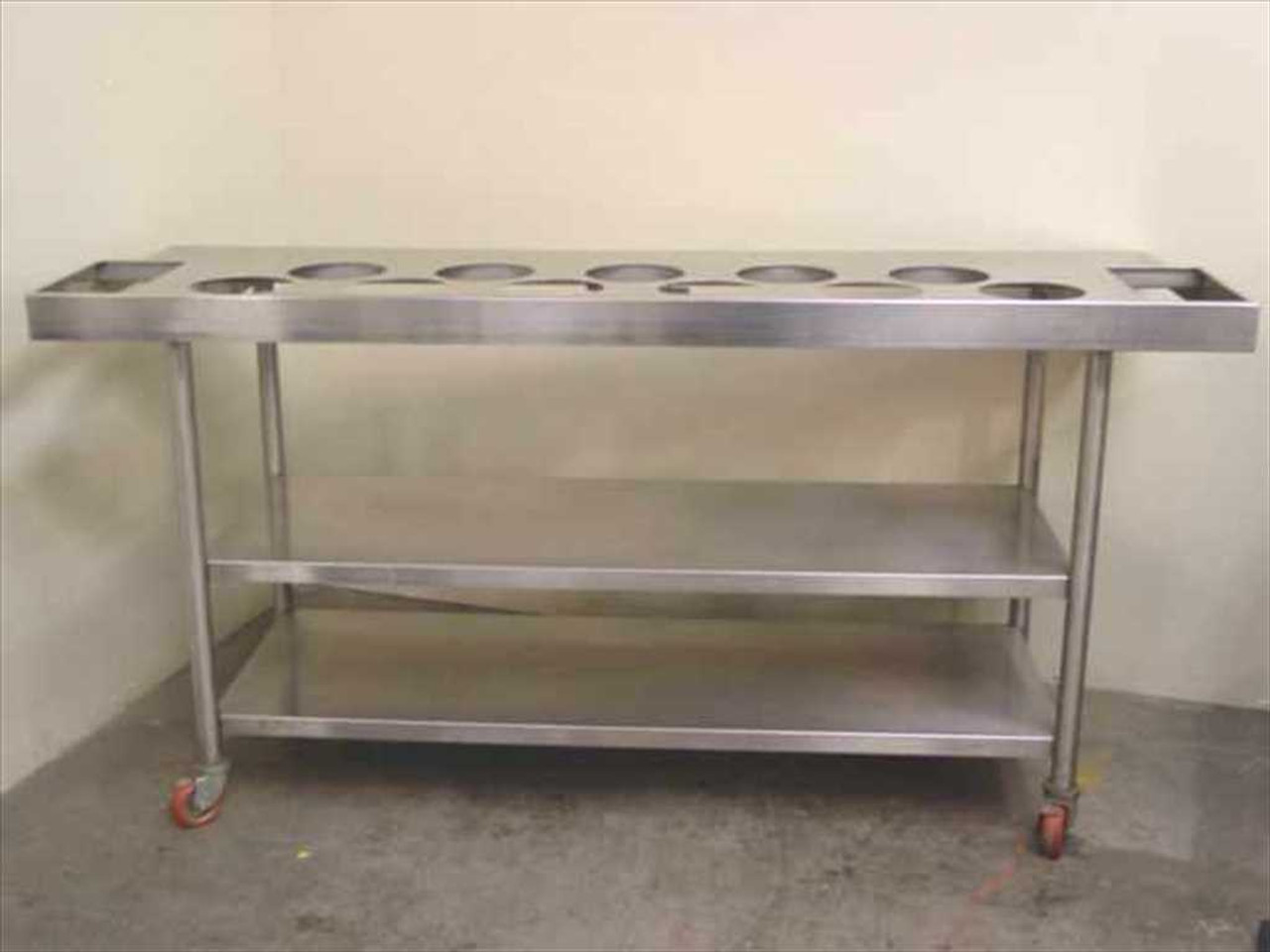 Stainless Steel Serving Cart Salad Bar Galley Station