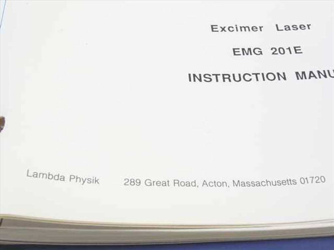 ... Array - lambda physik emg 201e excimer laser instruction manual rh  recycledgoods com