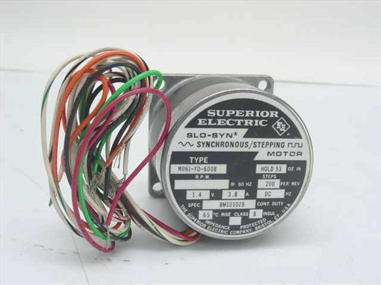 Superior electric mo61 fd 6008 slo syn synchronous for Superior electric slo syn motor