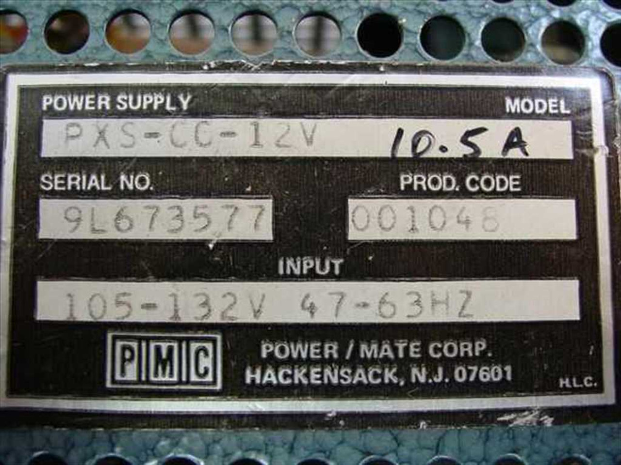 Power Mate Corp Pxs Cc 12 V Volt 10 Amp Regulated Supply