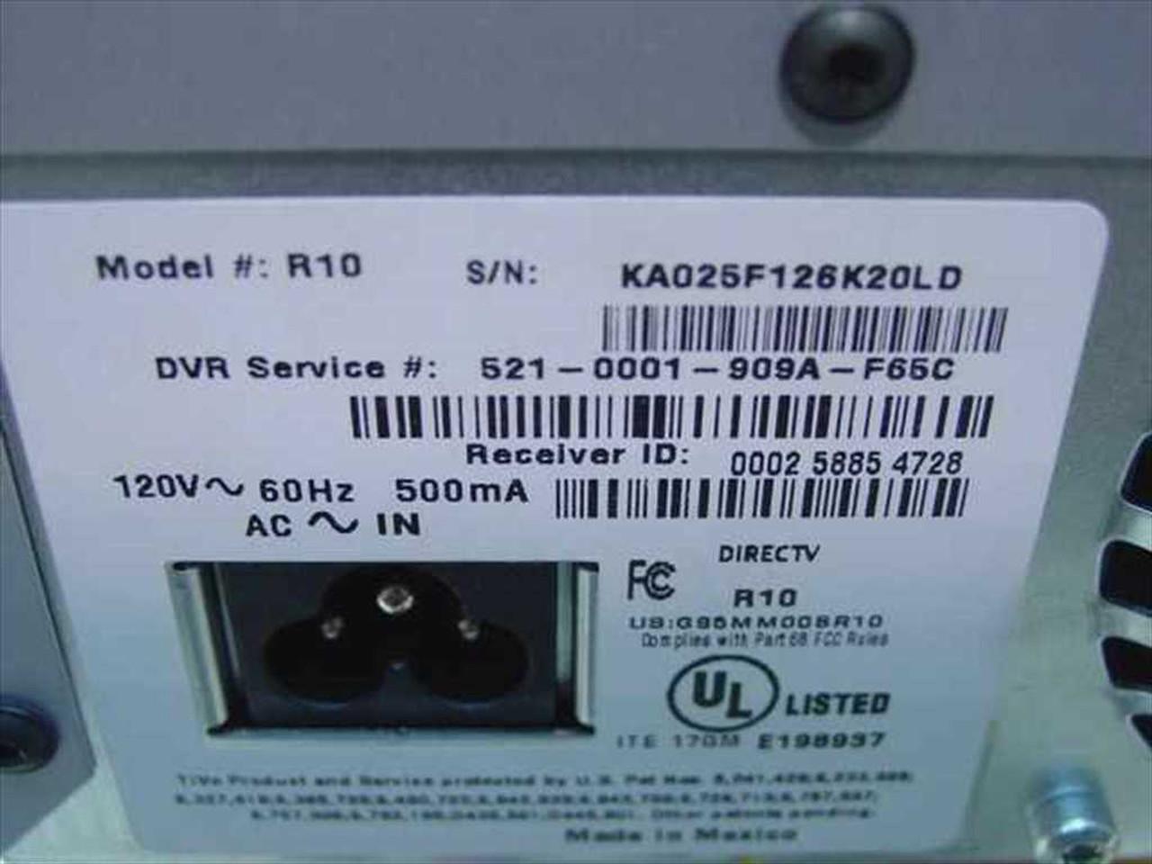 ... DirecTV R10 DVR with TiVo