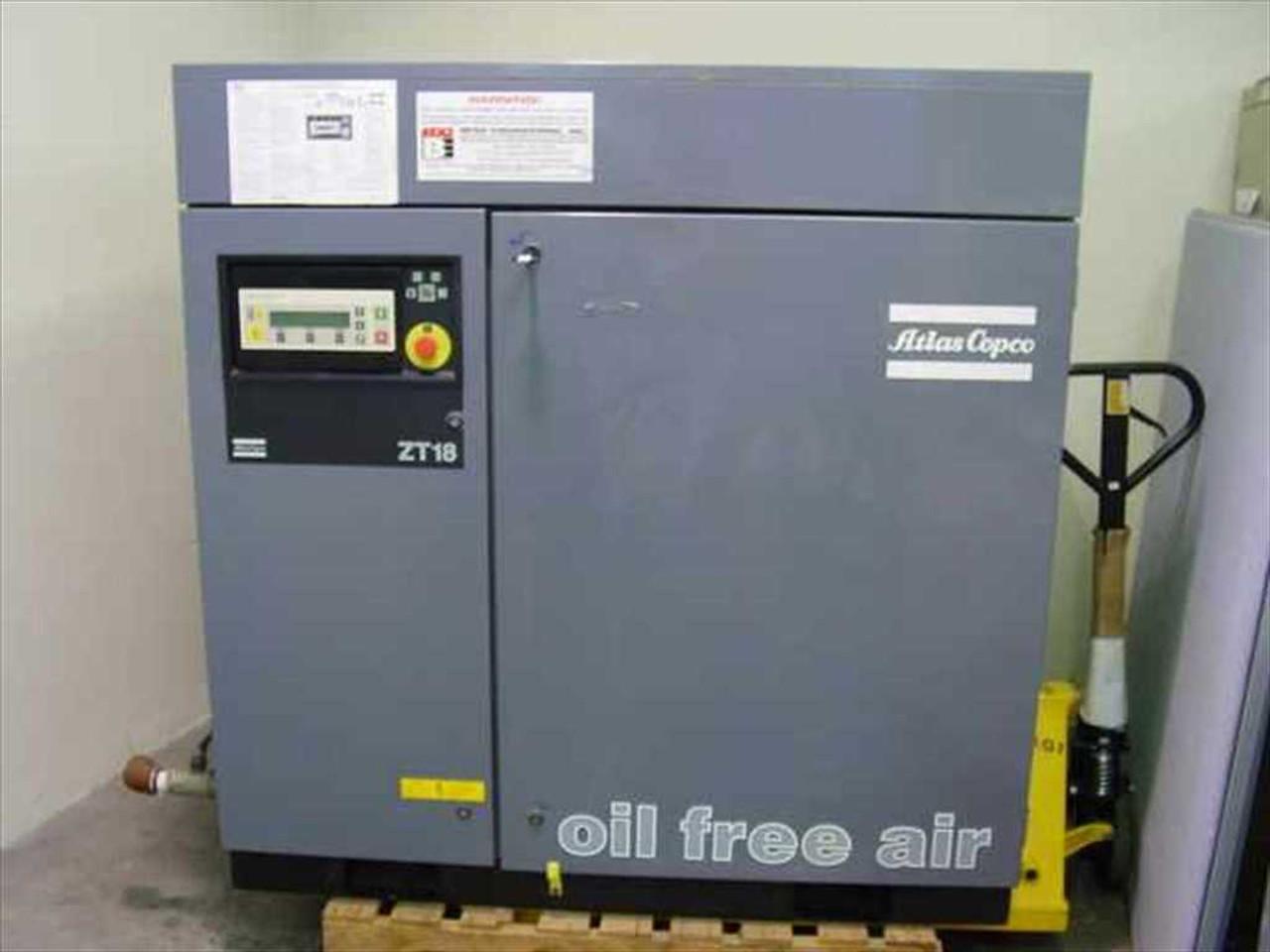 atlas copco zt18 oil free air compressor zt 18 air cooled 35hp rh recycledgoods com Atlas Copco Compressors Atlas Copco Oxygen Generator