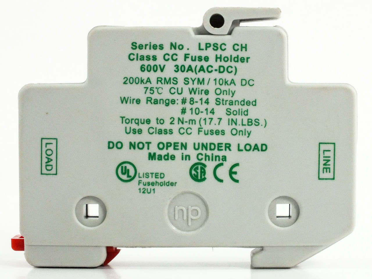 Littelfuse Lpsh Ch Powr Safe 600v 30a Class Cc Fuse Holder Box