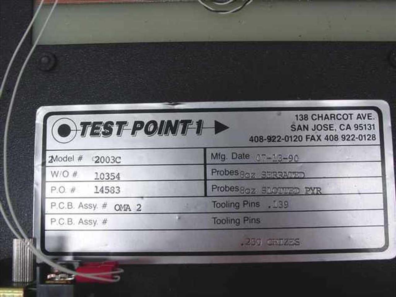 Semiconductor Test Inc : Testpoint c accuprobe semiconductor test probe
