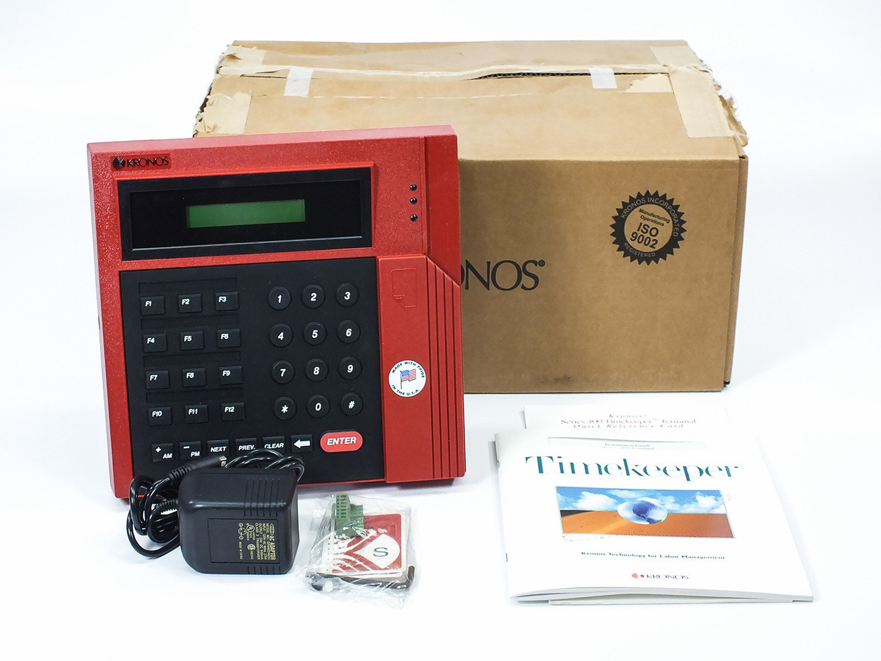 Kronos 460f Time Clock Terminal Package With Accessories