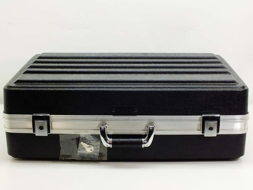 Platt Black Carrying File Case Briefcase with Key (2407)