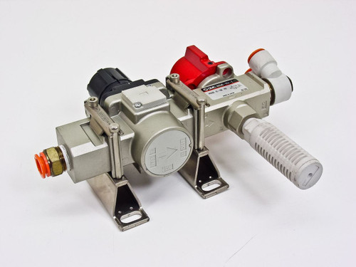 SMC Pressure relief valve w/ regulator (VHS40-N04-Z)
