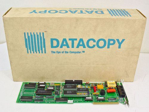 Datacopy Corp. 8 Bit ISA 3 Phone Plugs Vintage 1986 Microfax