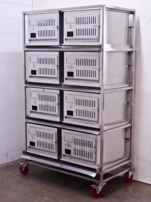 Lab Products Inc Modular Rabbit Small Animal Cage - 8 cages Stainless Steel