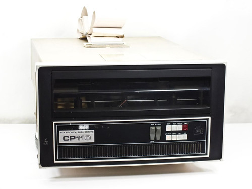 "Digital RK05J-AA CP110 Tektronix Disk Drive with 14"" Decpack Disk Pack"