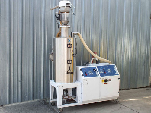 Motan Luxor AM 120 Metro 50 Gallon Press-Side Polycarbonate Materials Dryer