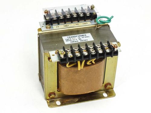 Hirao Denki 230VA Transformer Single-Phase PRI: 100/200 VAC SEC: 12/18 VAC