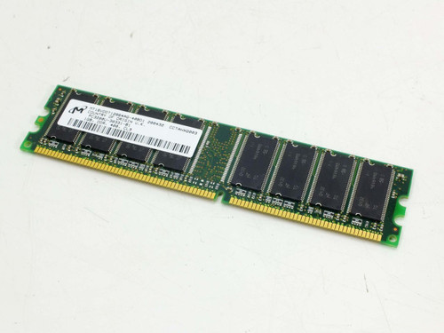 Micron 1GB PC3200 DDR 400MHz non-ECC Unbuffered CL3 184-Pin DIMM Memory Ram