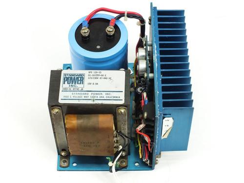 Standard Power Power Supply 115/230V 47-440Hz 15V 8.0A SPS 120-15