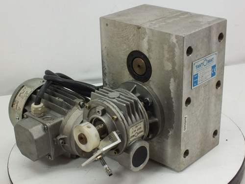 Taktomat Parallel Shaft Indexing Drive w/ Sigl GmbH Motor (IP 80 E)