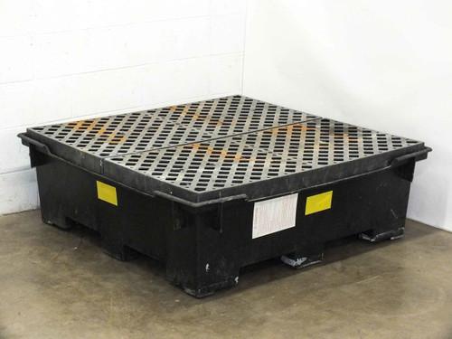 "Polyethylene 80 Gallon High Density Chemical Spill Sump Container 50x50x16"""