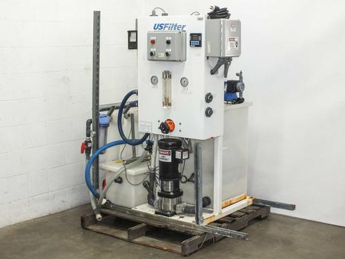 USFilter with Baldor Motor, Pulsatron Pumps, Rustrak Printer and Tanks Water Mon