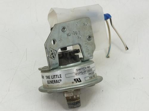 Barksdale MSPS-FF100SS Pressure Switch 10-100PSI, 3A, 125/250 VAC