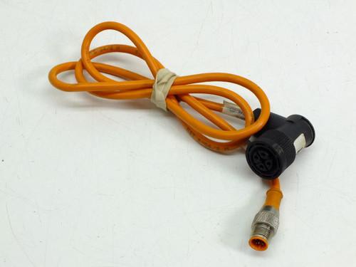"Lumberg Automation M12 / 7/8"" Round-Plug Cordset STR-ANG 1.0m"