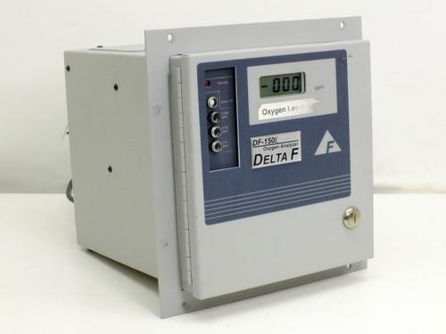 Delta F 153E-1000 Oxygen Analyzer Range 0-10/100/1000 PPM DF-150E-0104 AS-IS