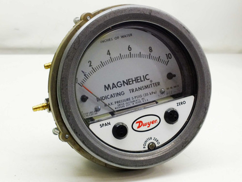 """Dwyer 0-10"""" Magnehelic Differential Pressure Indicating Transmitter Gauge"""