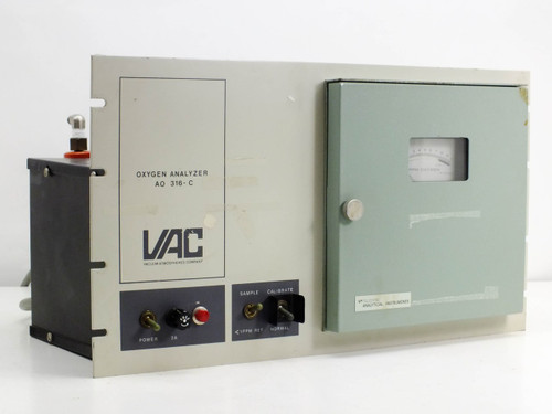 VAC Oxygen Analyzer w/ Teledyne Trace Oxygen Analyzer AO-316-C