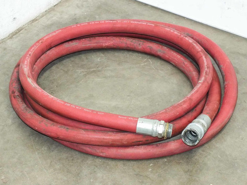 """Thermoid Valuflex/GS Industrial 1.25"""" I.D. 27 Ft. 200psi Air and Water Hose"""