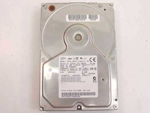 "IBM 8.4GB 3.5"" IDE Hard Drive 00K0394"