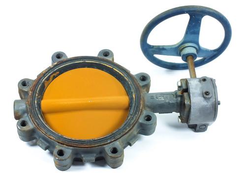 "Nibco LD3022-5 8"" Industrial Lug Butterfly Valve Gear Operation"