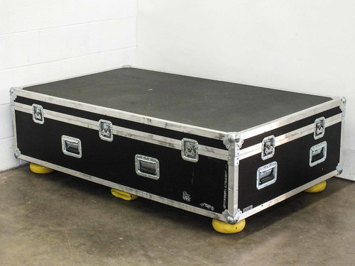 """Redwood Packaging 63.5"""" x 38"""" x 20"""" Black Travel Road Case with Foam"""