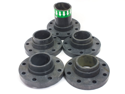 "Lot of 5 Lasco Fibertuff 854-040FT Schedule 80 4"" PVC Pressure Flange Loose Ring"