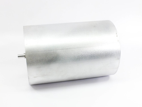 """Aluminum Roller  Cylinder 10"""" Diam x 15"""" Long with 11/16"""" x 1"""" Mounting Shafts"""