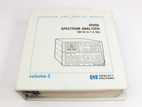HP 8568A  Spectrum Analyzer 100 Hz - 1.5 GHz Operating & Service Manual Vol. 3