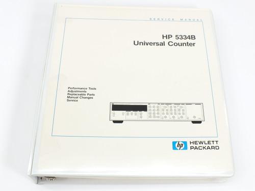 HP 5334B  Universal Counter CIIL Firmware Rev. 1.0 Service Manual