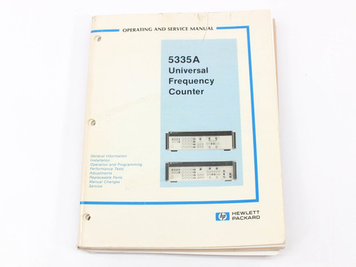 HP 5335A  Universal Frequency Counter Operating and Service Manual - Soft Cover