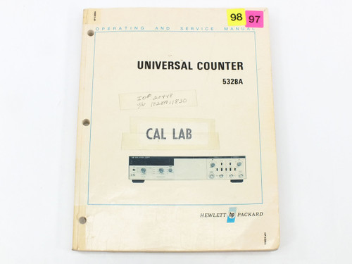 HP 5328A  Universal Counter Operating and Service Manual