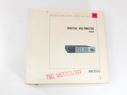 HP 3456A  Digital Voltmeter Operating and Service Manual