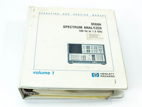 HP 8568A  Spectrum Analyzer 100 Hz - 1.5 GHz Operating and Service Manual Vol. 1