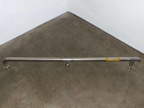 Stainless Steel 36 Feet of Vacuum Caustic Drain Pipe 2 Inch Diameter Pipe