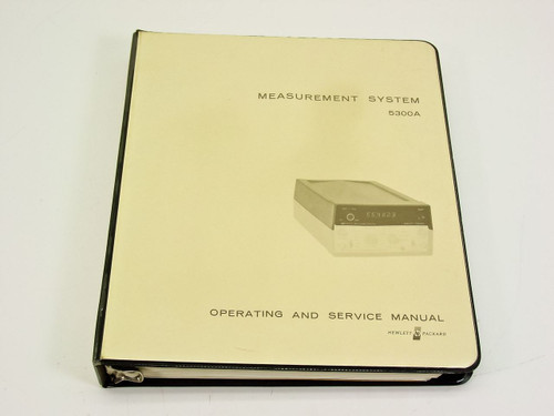 HP 5300A  Measurement System Operating & Service Manual