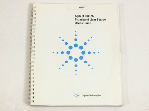 HP/Agilent 83437A  Broadband Light Source User's Guide