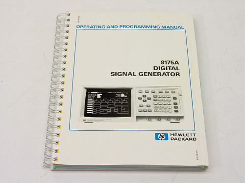 HP 8175A  Operating & Programming Manual