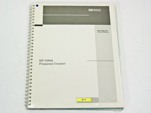 HP 5386A  Operating & Service Manual