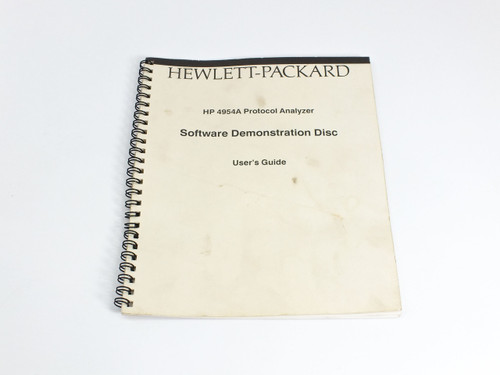 HP 04954-94004  4954A Protocol Analyzer Software Demonstration User's Guide