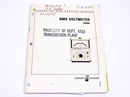 HP 3400A  Operating & Service Manual - 1972